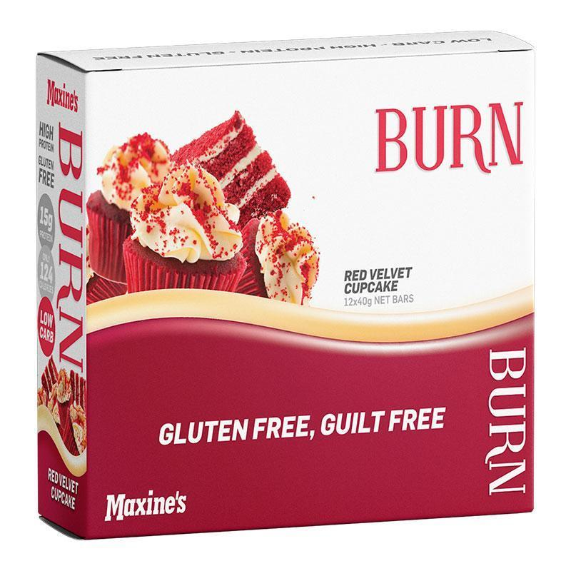 Burn Bar Box of 12 - Maxine's | Red Velvet Cupcake