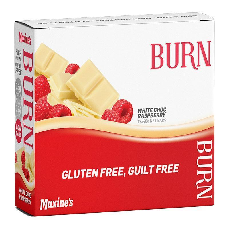 Burn Bar Box of 12 - Maxine's | White Choc Raspberry