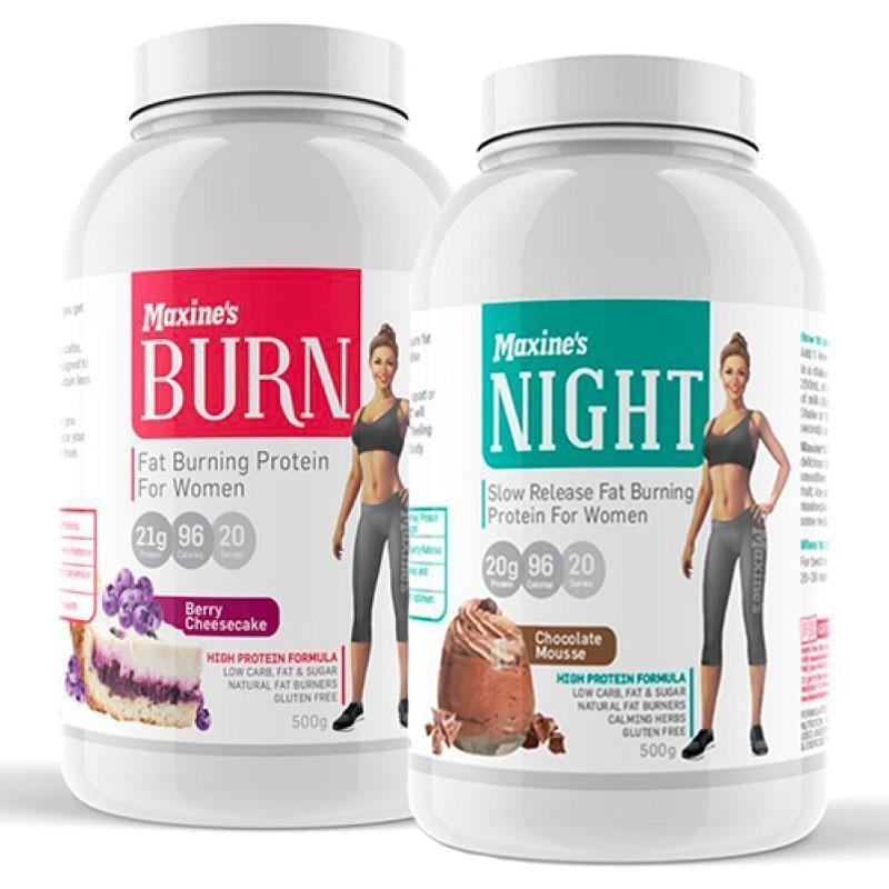Burn Protein + Night Bundle by Maxine's