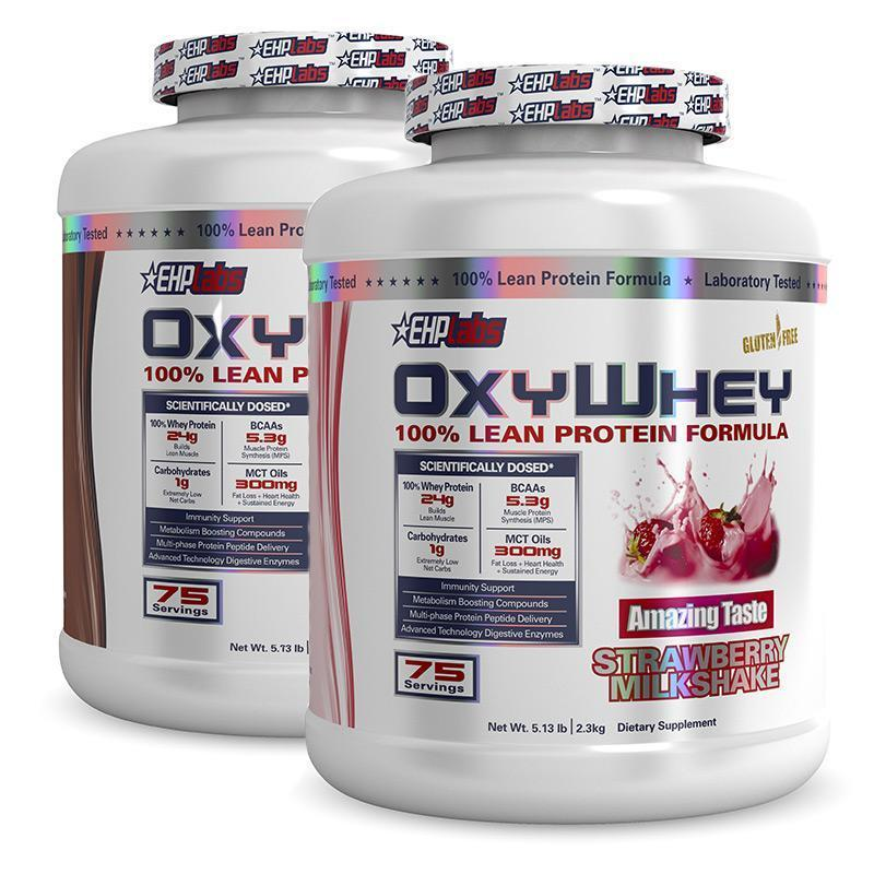 OxyWhey (75 servings each) Twin Pack - EHPlabs | Fat Burnerz