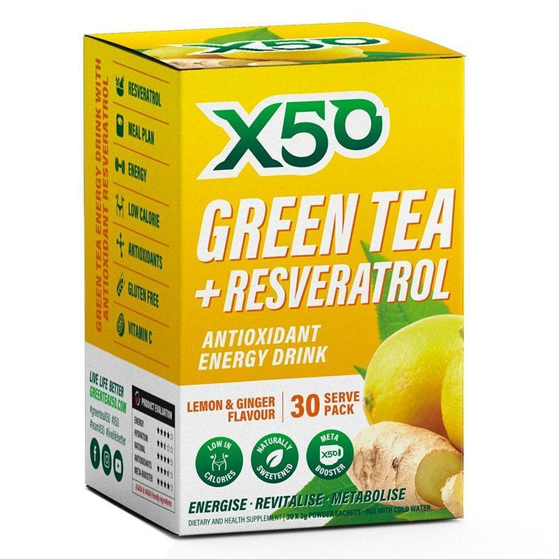 Green Tea + Resveratrol (30 serves) by X50