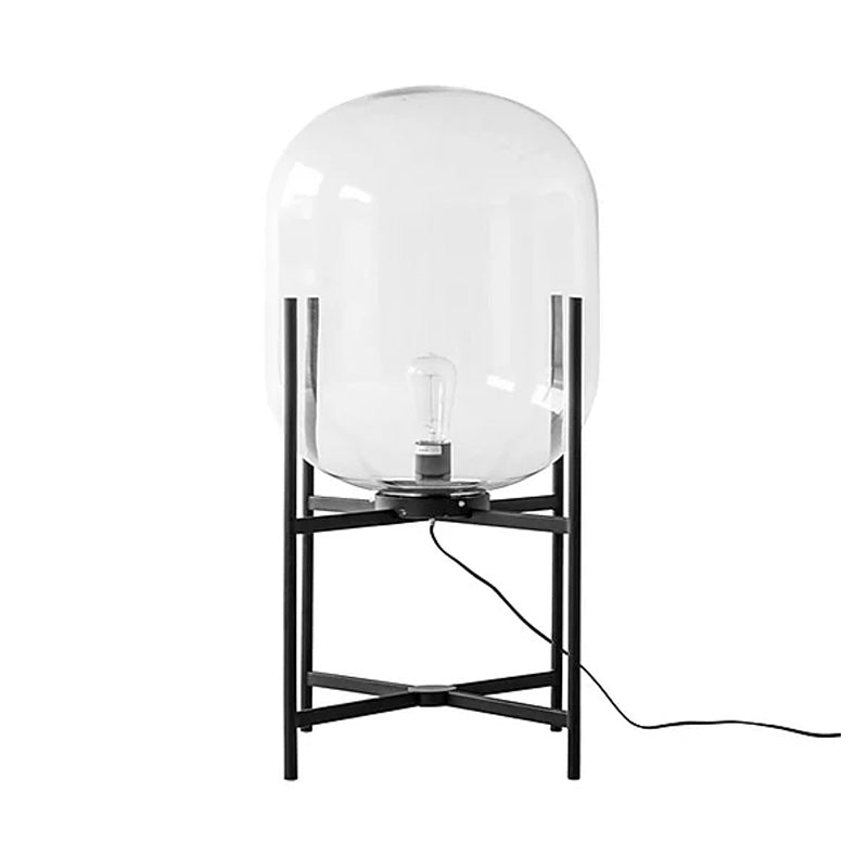 GLASS DOME + METAL SIDE LAMP