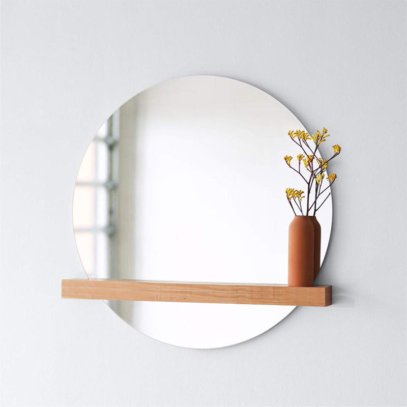 BIRCH FLOATING SHELF MIRROR