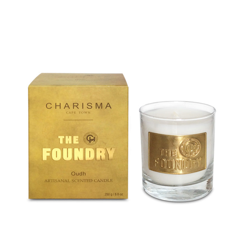 CHARISMA FOUNDRY COLLECTION GLASS SCENTED CANDLE