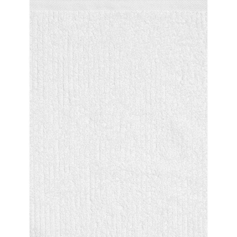WHITE RIBBED TOWEL