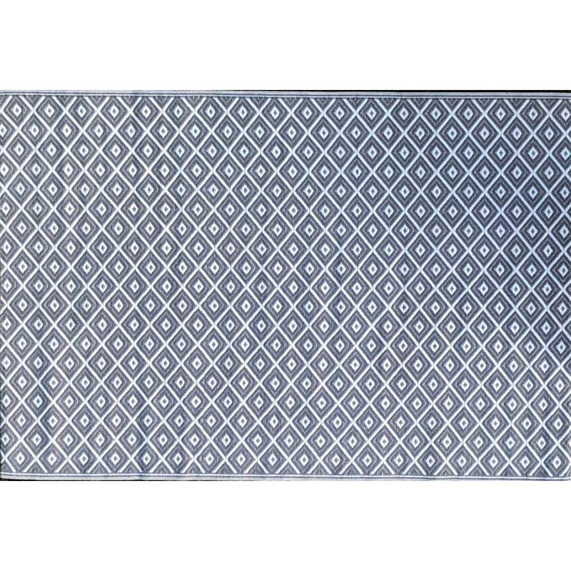 GREY DIAMOND UPCYCLED WOVEN MAT