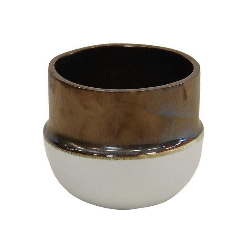 BRONZE CERAMIC PLANTER