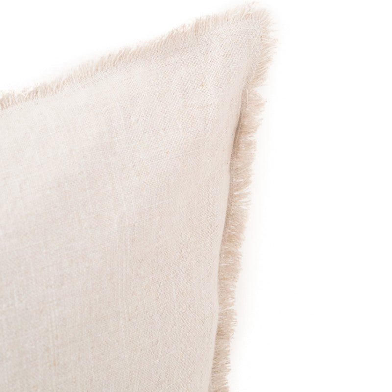 CHUNKY LINEN HAND FRAYED EDGE CUSHION COVER