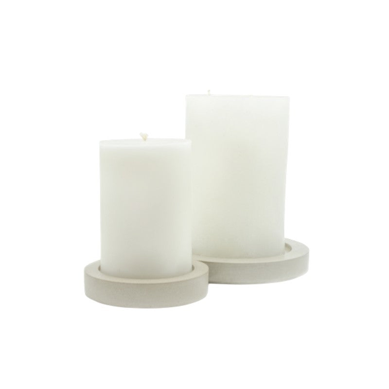 CEMENT PILLAR CANDLE TRAY
