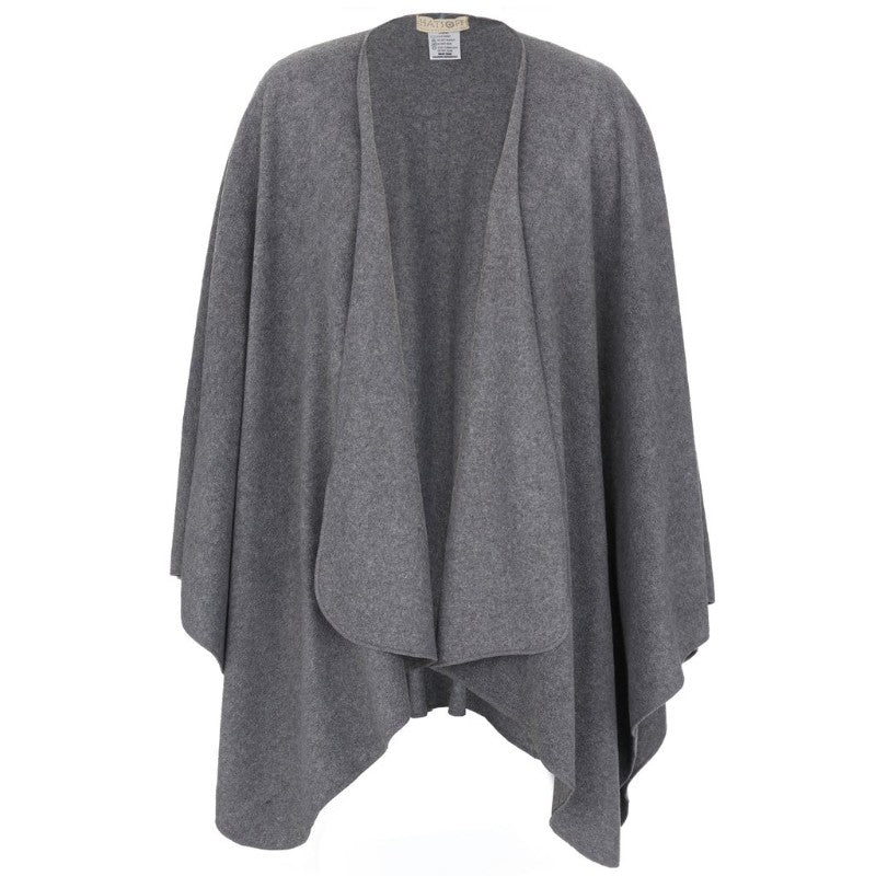 CHARCOAL FLEECE PONCHO