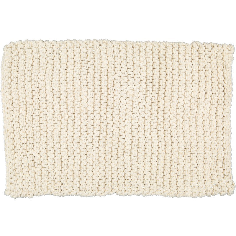 HAND KNITTED NATURAL CHUNKY KNIT MAT