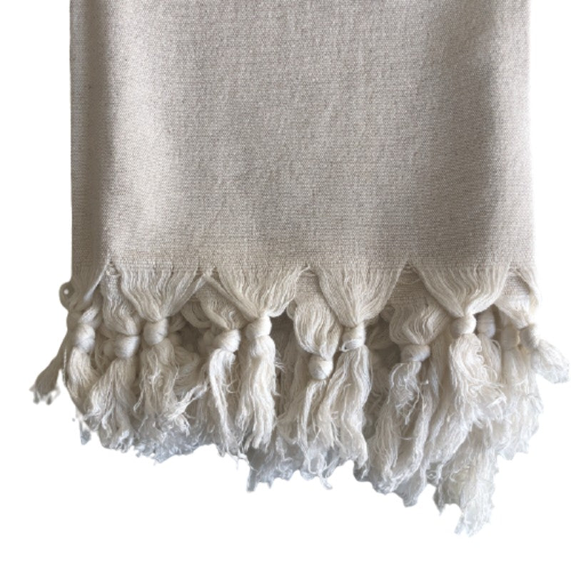 SOLID CREAM BAMBOO COTTON TOWEL