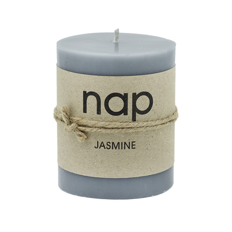 GREY JASMINE nap SCENTED PILLAR CANDLES