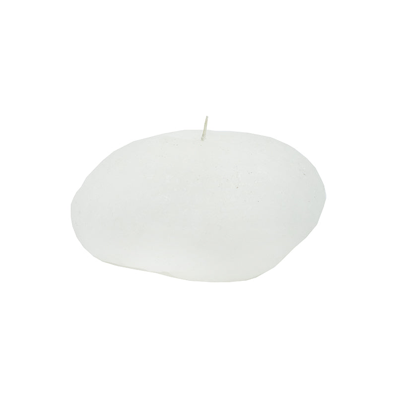 WHITE RIVERSTONE CANDLE