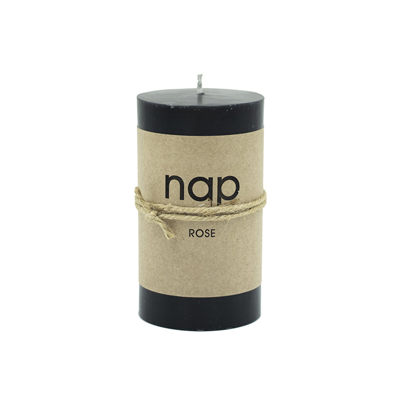 BLACK ROSE nap SCENTED PILLAR CANDLES