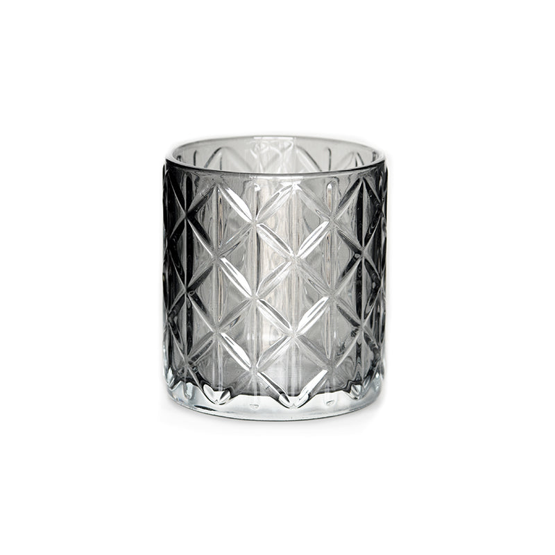 SMOKEY GLASS DIAMOND VOTIVE