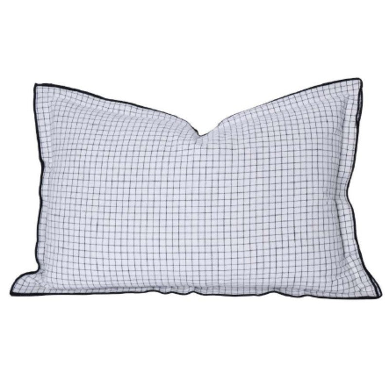 BLACK + WHITE CHECK SCATTER CUSHION