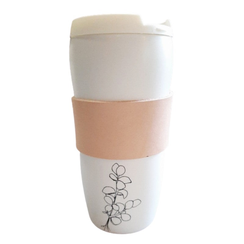 SPEKBOOM CERAMIC AND LEATHER TRAVEL MUG