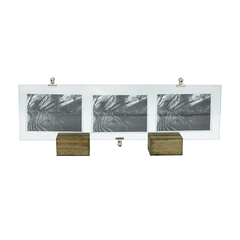 TRIPLE IMAGE GLASS CLIP FRAME