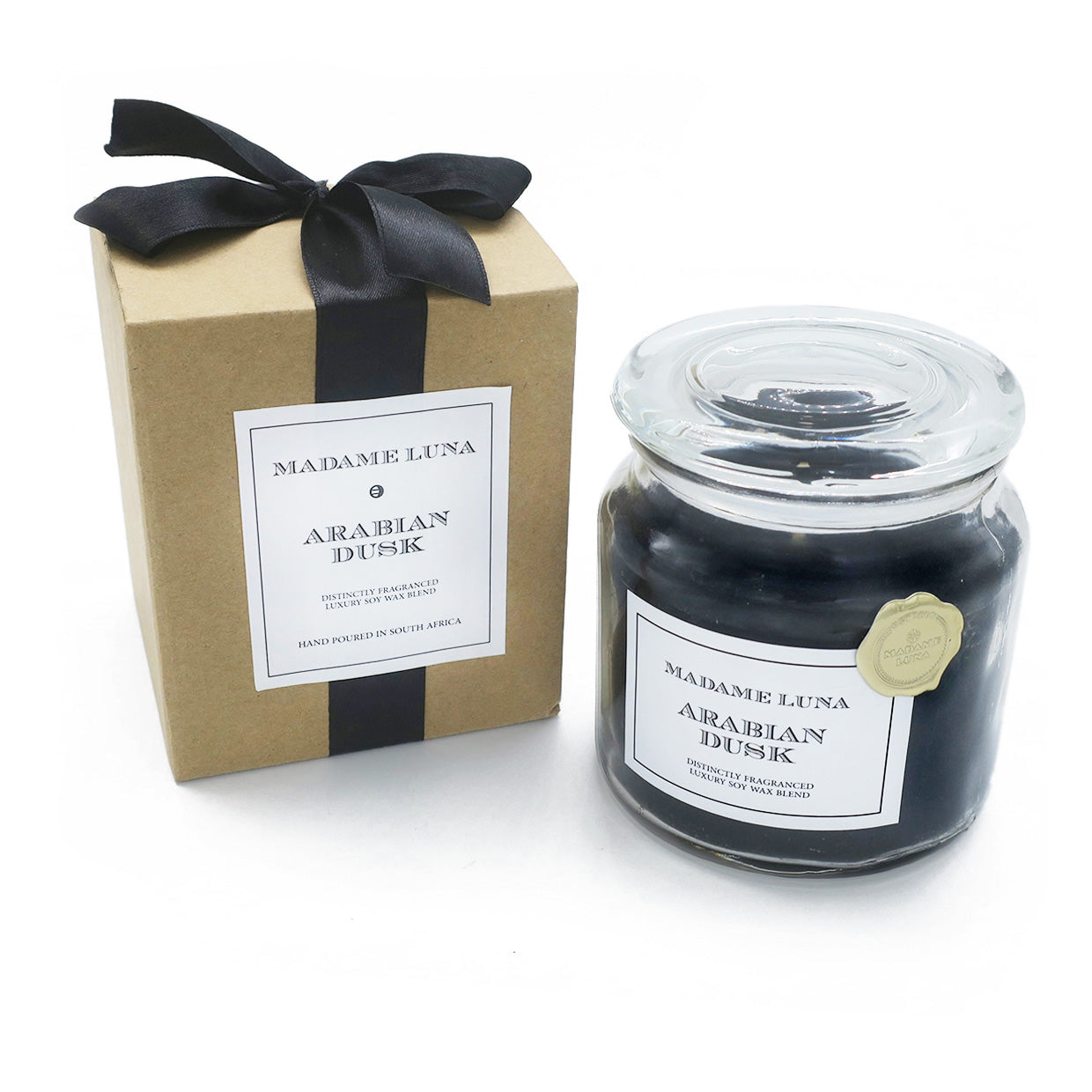 BLACK RIBBON JAR CANDLE RANGE