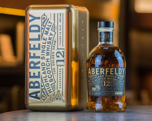 Aberfeldy 12 Year Old Whisky Limited Edition Gold Bar Tin