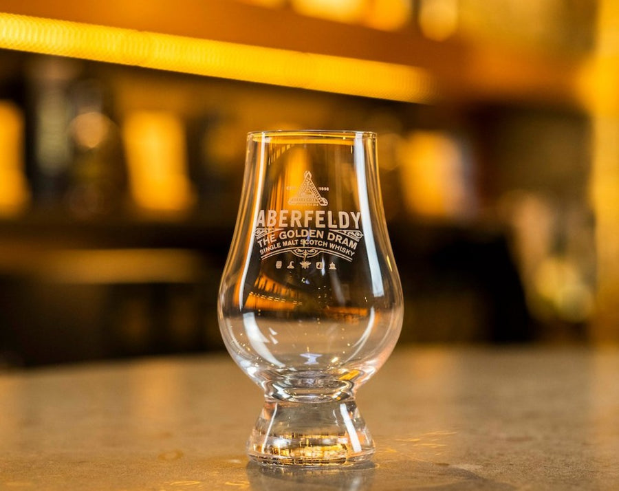 Branded 'Glencairn' tasting glass
