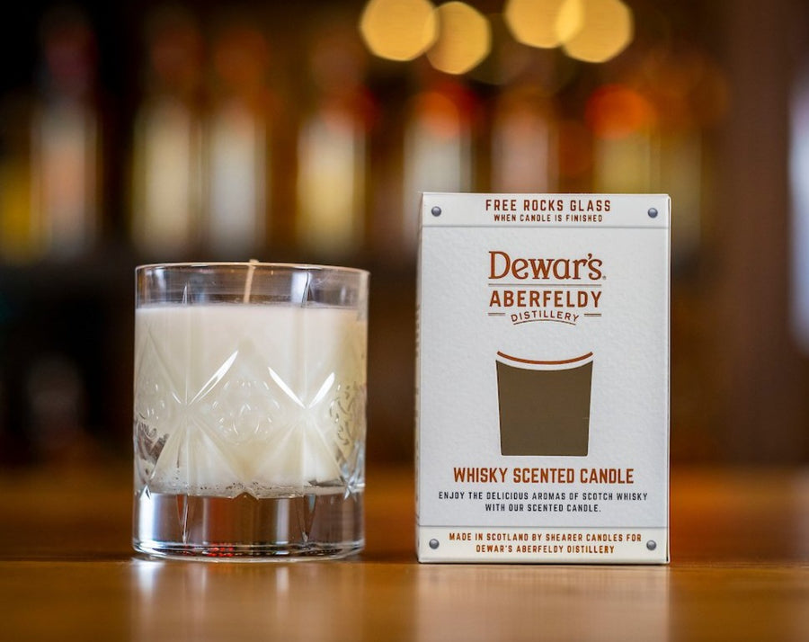 Whisky scented candle