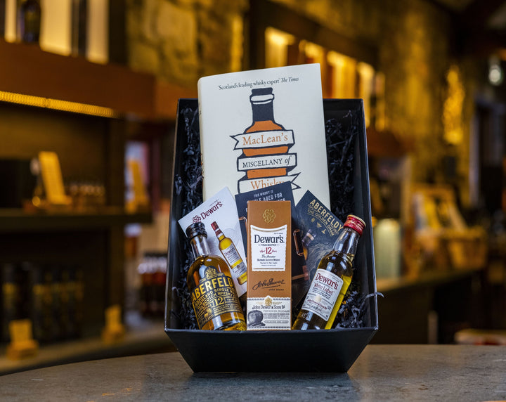 Miniature Whisky & Charles MacLean Book Set