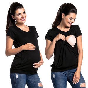 New Women   Double Layer Breastfeeding Blouse