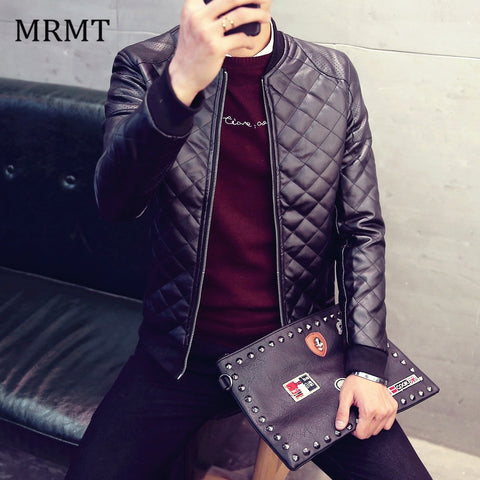 Mens  Fall Winter Leather Jacket
