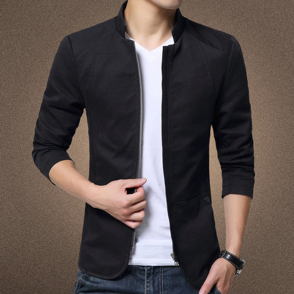 Male Slim Casual Outerwear