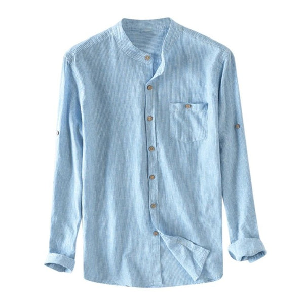 Mens  Long Sleeve V-neck shirts Summer