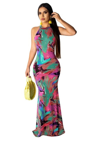 Sexy Elegant Multicolor Female Sundress