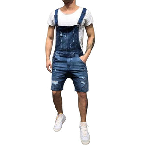 2019 New Fashion Men's Ripped Jeans Jumpsuits