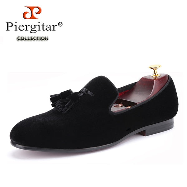 New men velvet shoe with velvet tassel Party and Wedding British style