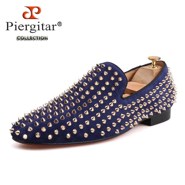 Black and Navy colors  prom and wedding men's loafers