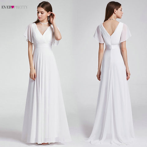 Ever Pretty  V Neck Wedding Dress Elegant