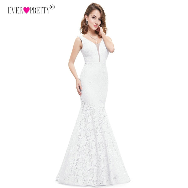 Ever Pretty Corset Lace Mermaid Wedding Dresses