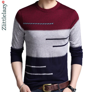 Men knitted jersey striped sweaters
