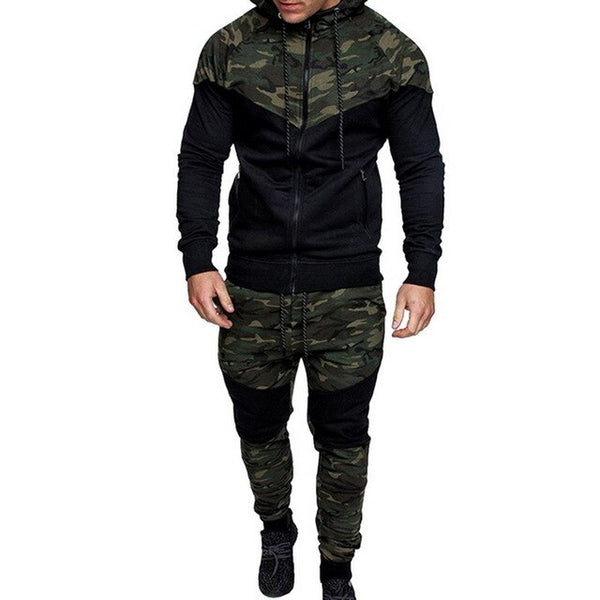 2019 New Causal Long Sleeve Tracksuit Hoodies Jackets and Pants