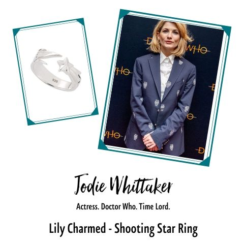 Jodie Whittaker in Shooting Star Ring by Lily Charmed