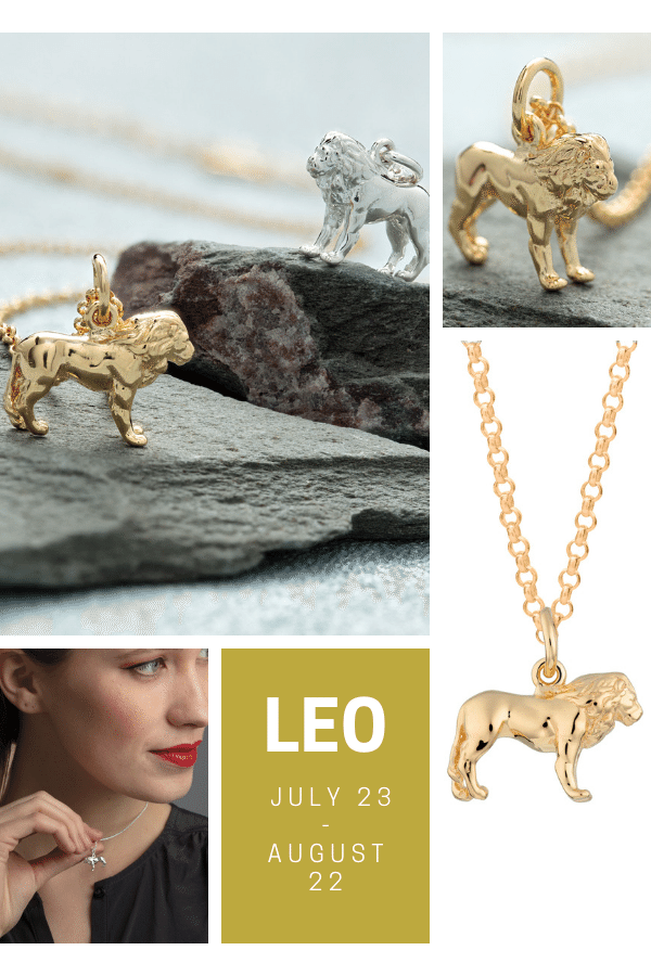 Lion Jewellery Collection Leo Star Sign
