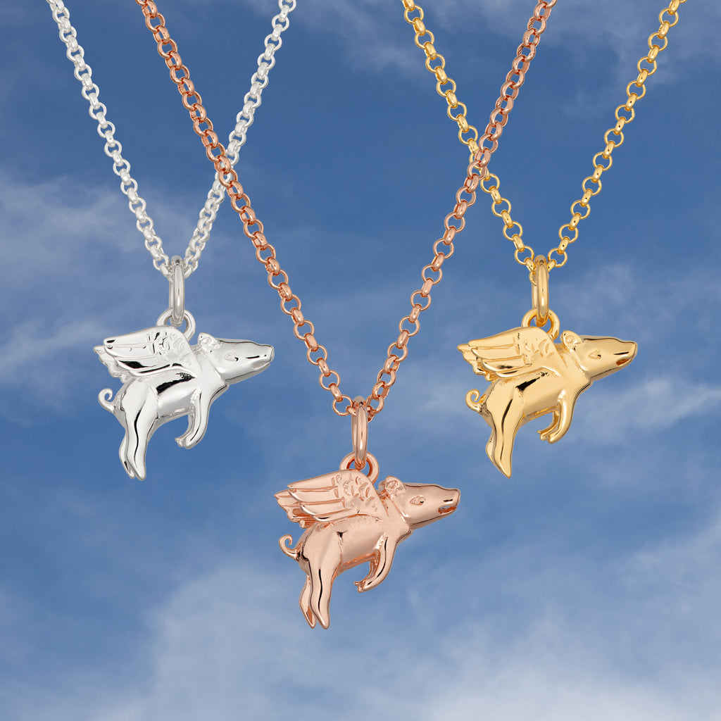 Flying Pig Necklace by Lily Charmed