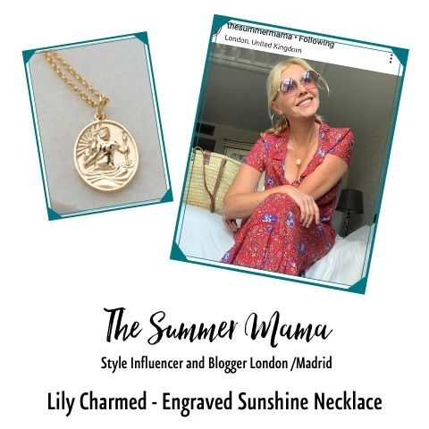 St Christopher Necklace SummerMuma Lily Charmed