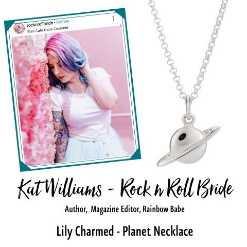 Rock n Roll Bride in Planet Necklace Lily Charmed
