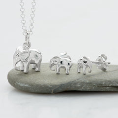 Sterling Silver Elephant Jewellery set