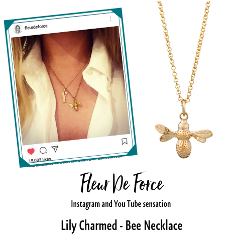 Fleur de Force in Lily Charmed Bee Necklace