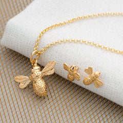 Gold Bee Jewellery Set by Lily Charmed