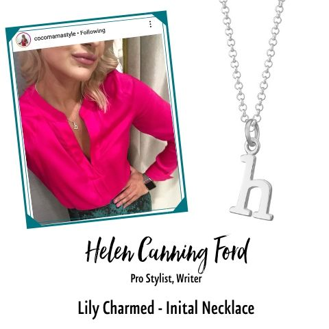 Helen Canning Ford in Initial Charm Necklace