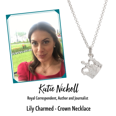 Kate Nicholl Royal Correspondent in Lily Charmed Crown Necklace